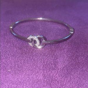 Michael Kors bangle bracelet w/ rhinestones
